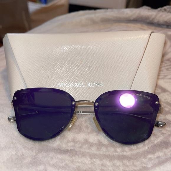 Michael kors women's sunglasses purple tint reflective luxury